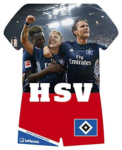 Hamburger SV 2018 - Fussball Kalender, Trikotkalender, Kalender HSV 2018 - 34 x 42 cm