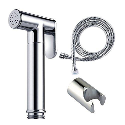Pet Kit Dusche (vanra PDA Kit für Bidet Bidet Sprayer Set für WC Edelstahl Reinigungstuch Windel Spritze Wasserhahn mit Schlauch Halterung Dusche Halter)