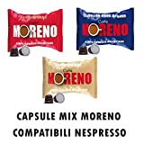 Moreno Caffe ' Mix 200Kapseln Pads Drei Mischungen Produkte Nespresso