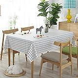 Tischdecke Esstisch Wasserdichte und ölbeständige Tischdecke Wave Side Dekorative Tischdecke Rechteckige Quadratische Antifouling Tischdecke,Style4,120 * 170cm