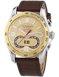 Victorinox Swiss Army  Chrono Classic - Reloj de cuarzo para hombre, con correa de cuero, color marrón