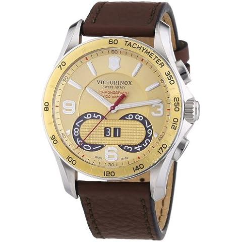 Victorinox Swiss Army  Chrono Classic - Reloj de cuarzo para hombre, con correa de cuero, color