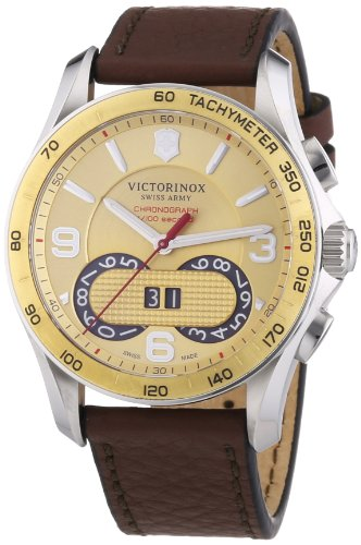 Victorinox Swiss Army Herren-Armbanduhr XL Chrono Classic Chronograph Quarz Leder 241617