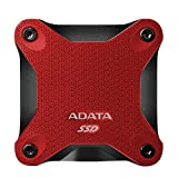 ADATA SD600 External Solid State Drive 3D TLC NAND Flash with SLC and DRAM (512 GB, RED)