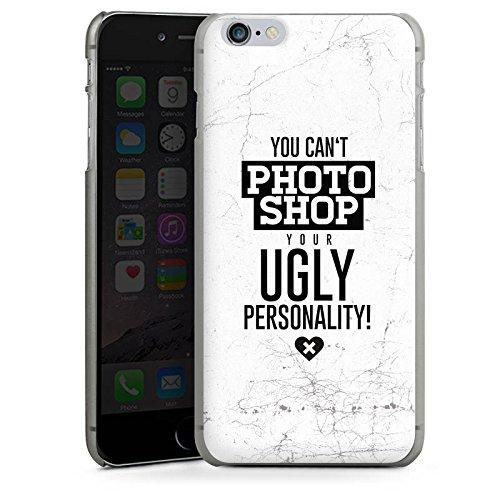 Apple iPhone X Silikon Hülle Case Schutzhülle Persönlichkeit Sprüche Humor Hard Case anthrazit-klar