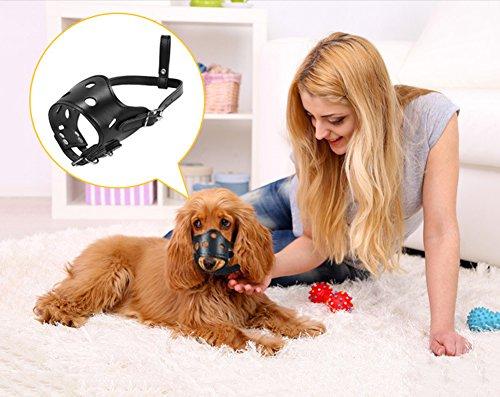 Cutepet Leder Hund Maulkörbe Einstellbar Für Meistens Hunde Atmungsaktiv Anti-Beißenden,XS