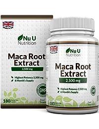 Raíz de Maca - 2500 mg 2500mg extracto de Maca Andina - 180 Comprimidos (Suministro