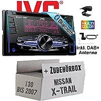 Nissan X-Trail T30 bis 2007 - JVC KW-DB92BT - 2DIN
