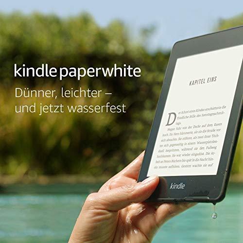 Kindle Paperwhite, wasserfest, 6Zoll (15cm) großes hochauflösendes Display, 8GB - mit Spezialangeboten - Schwarz - 2