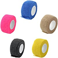 MagiDeal 5 Stück Erste-Hilfe Bandagen Kinesiologie Verband Tape Klebeband Bandage Selbstklebeverband 2,5cm x 4.5m preisvergleich bei billige-tabletten.eu