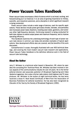 Power Vacuum Tubes Handbook (Electronics Handbook)
