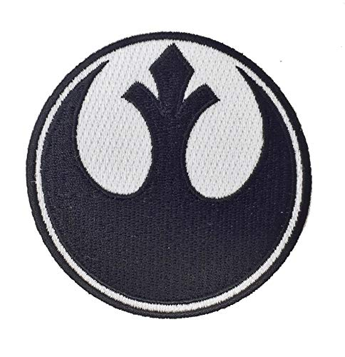 Uniform Kostüm Ups - Super6props Star Wars Rebel Alliance gesticktes Eisen auf Patch Crew Uniform Patch für Cosplay, Kostüm und Kostüm 75mm