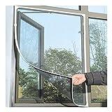 Finebuying Magnet Insektenschutz Moskitonetz Tür Fenster Insektenschutz Fenster ohne Bohren Mückenschutz für Fenster Fliegengitter Vorhang Fliegen Moskito Bug Fensternetz Mesh 150 x 130...