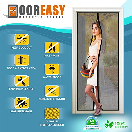 dooreasy-high-quality-mesh-curtain-fiberglass-mesh-magnetic-screen-door-black-48x80-inches-full-fram