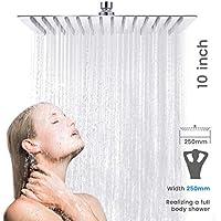 Baban Soffione doccia/Soffione 10 pollici piazza soffione cromato Acciaio superiore Disegno,5 anni di garanzia