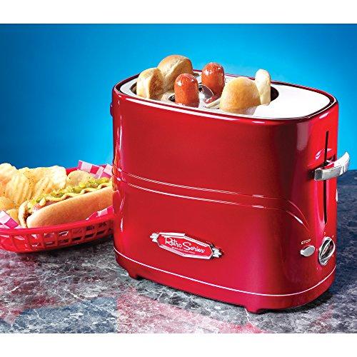 Retro American Diner Stil der 1950er Jahre Red Pop-Up Hot Dog und Brötchen Toaster - Boxed (Dog Diner Red)