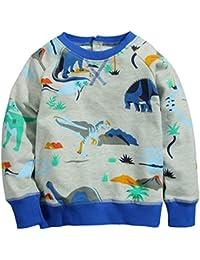 Kaily Junge Crewneck Baumwolle Langarm Hoodie Sweatshirt