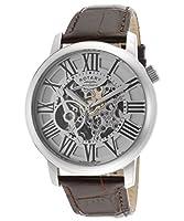 Reloj Rotary GLE000015/21 automático para hombre, correa de cuero color marrón