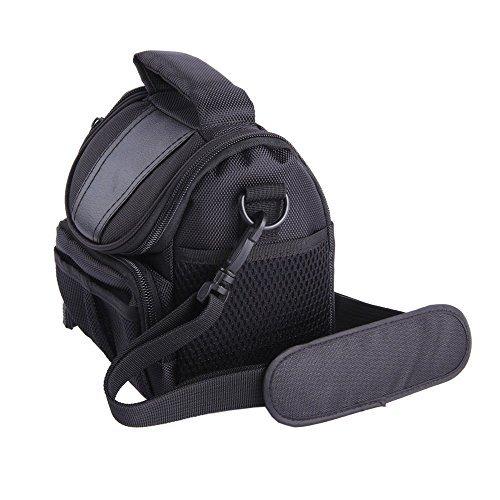 LXJ SMILEBlack Soft Nylon Digital Camera Case Bag Cover Pouch for Canon Powershot SX530 SX60 SX520 SX510 HS SX400 IS EOS Rebel Series DSLR kit  available at amazon for Rs.2450