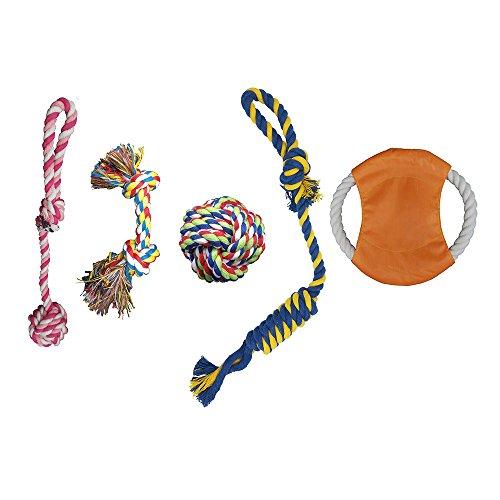 Haustier Welpen Hund Zähne kauen spielzeugsatz, Seile Spielzeug für kleine bis mittlere Hunde (5 Stück) -