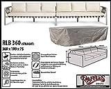 Raffles Covers RLB360straight Hülle für Lounge Bank, Rattan Gartensofa/Lounge Sofa, 2-3 Personen, passt Sofa von max. 360 x 95 cm. Schutzhüllen für Bank, Abdeckhaube, Schutz-Plane für gartenbank