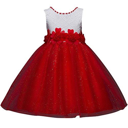 d33a4ccff Bebés Niñas Vestido Floral de Tutú Princesa Traje de Fiesta Formal ...