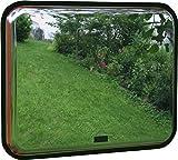 Ausfahrtspiegel - Verkehrsspiegel - Metallspiegel rechteckig Edelstahlspiegel 600 x 450 mm - ideal für Ein- und Ausfahrten - 02.0210