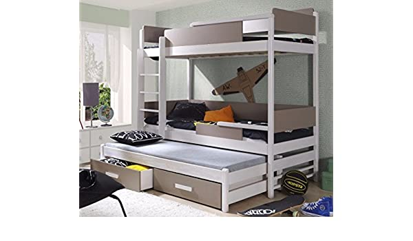 Etagenbett Quatro : Massivholz kiefer etagenbett 3 liegeflächen ink.3matratzen 190x80