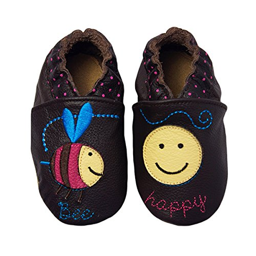 Rose & Chocolat Chaussures Bébé Bee Happy Marron