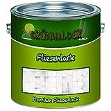 Grünwalder premium 2K Fliesenlack Fliesenfarbe farbauswahl (1 kg, Lichtgrau)