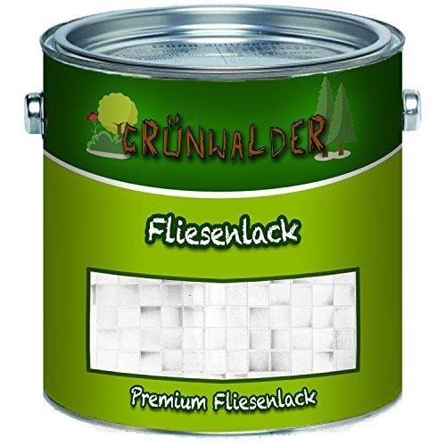 Grünwalder premium 2K Fliesenlack Fliesenfarbe farbauswahl (1 kg, Schwarz)