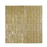 YOUG 3D Wand Papier Ziegel Stein Rustikal Effekt Selbstklebende Tapeten DIY Wand Sticker PVC geprägt Stein für Home Decor -30 * 30 cm, PVC, a, Einheitsgröße