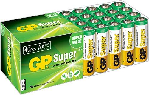 GP LR06 Mignon AA Super Alkaline (40-er Pack)