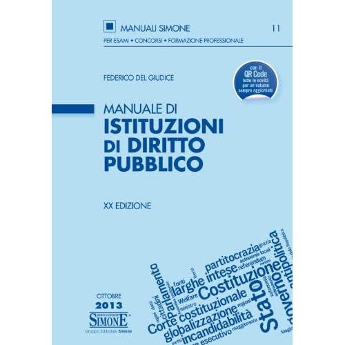 Manuale Di Istituzioni Di Diritto Pubblico
