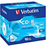 Verbatim CD-R 90min 800MB CD-Rohlinge im Jewel Case 10er Pack