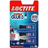 Loctite Super Glue-3 Minitrio - Adhesivo instantáneo, 3 monodosis de 1 gr