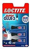 Loctite Super Glue-3 Minitrio, adhesivo universal instantáneo, 3 x 1 gr