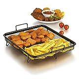 GOURMETmaxx Backofen Edelstahl- Grillkorb Grillgitter, Grillblech, für fettarmes Heißluft-Garen im Ofen
