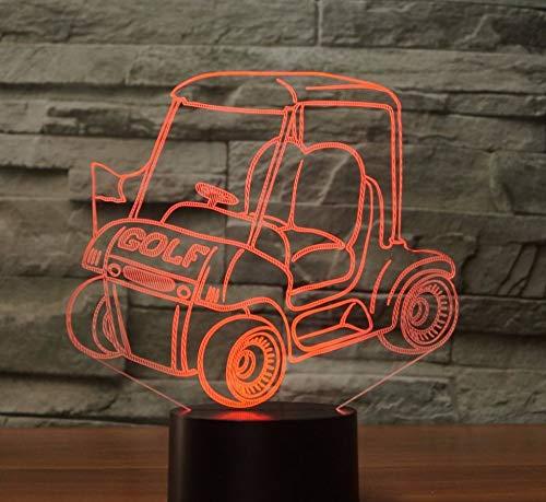 3D Illusion Lampe 7 Farbe Golf Cart Molding Tischlampe 3D Led Visuelle Nachtlicht Nacht Atmosphäre Dekoration Touch Schalter Auto Beleuchtung Geschenke