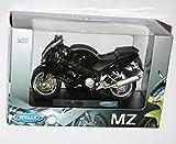 Welly–MZ Tausende (schwarz) das Sterben Motorrad Modell Maßstab 1: 18