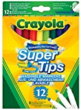 Enlarge toy image: Crayola Supertips Washable - Pack of 12 -  preschool activity for young kids