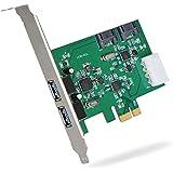 DONZO LT301 PCI Express Karte / PCIe Adapter mit 2 Port USB 3.0 extern + 2 Port SATA 3.0 intern + 4 Pin Stromversorgung mit ASM1042 + 1182E + ASM1061 Chipsatz