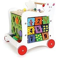 """Lauflernwagen """"Bär"""", Lauflernhilfe aus Holz, vielseitig bespielbares Motorikspielzeug / Lernspielzeug, Babyspielzeug ab 12 Monaten"""