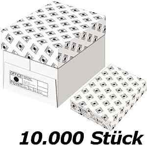 Papier copie 20 ramettes de 500 feuilles (10000 feuilles) A4 - 10000 pages de feuilles de copie papier pour imprimante - PAPIER blanc A4 80g / m² pour imprimante laser, Jet d'encre, copieur, télécopieur