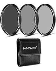 Neewer 67MM ND Filter Set (ND2 ND4 ND8)+Cleaning Cloth for Canon 18-135mm EF-S is STM Lens, Nikon 18-105mm f/3.5-5.6 AF-S DX VR ED Lens, PENTAX 18-135mm f/3.5-5.6 ED AL (IF) DC WR Lens
