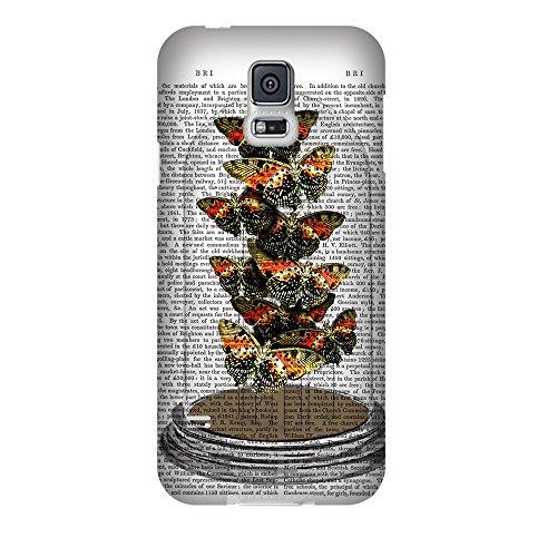 artboxONE Premium-Handyhülle Samsung Galaxy S5 Falter unter Glocke - Tiere - Smartphone Case mit Kunstdruck hochwertiges Handycover kreatives Design Cover von FabFunky (Haube Buchstaben)