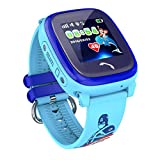 VIDIMENSIO GPS Telefon Uhr 'Kleiner Delfin - blau (Wifi), Armband:mit Figur', WASSERDICHT, OHNE Abhörfunktion, Smartwatch für Kinder, SOS+Telefonfunktion, App+Bedienungsanleitung+Support auf deutsch