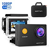 APEMAN Sports Action Camera 12MP Full HD 1080p Action Cam Wasserdichte Action Kamera Helmkamera Unterwaserkamera mit Transporttasche und Zubehör Kit