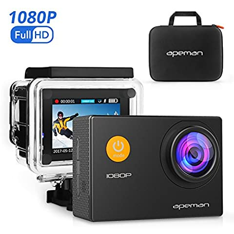 APEMAN Sports Action Camera 12MP HD 1080P Waterproof Cam 170
