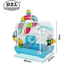 DZL jaula para hamster29.5X29.5X38CM) color azul,purpura y rojo indica